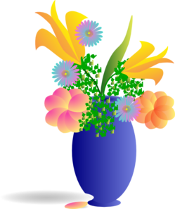 Clip art bunch of flowers - ClipartFest vector