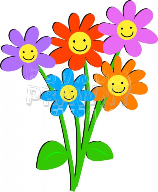Cartoon bunch of flowers - ClipartFest banner stock