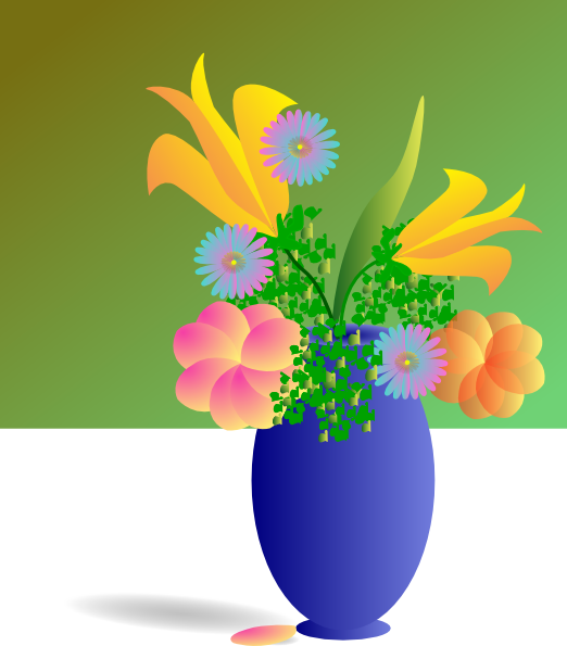 Bouquet Of Flowers Clip Art at Clker.com - vector clip art online ... vector free download
