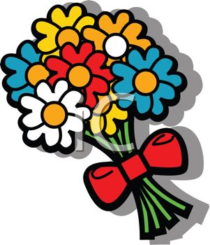 Cartoon bunch of flowers - ClipartFest vector freeuse stock