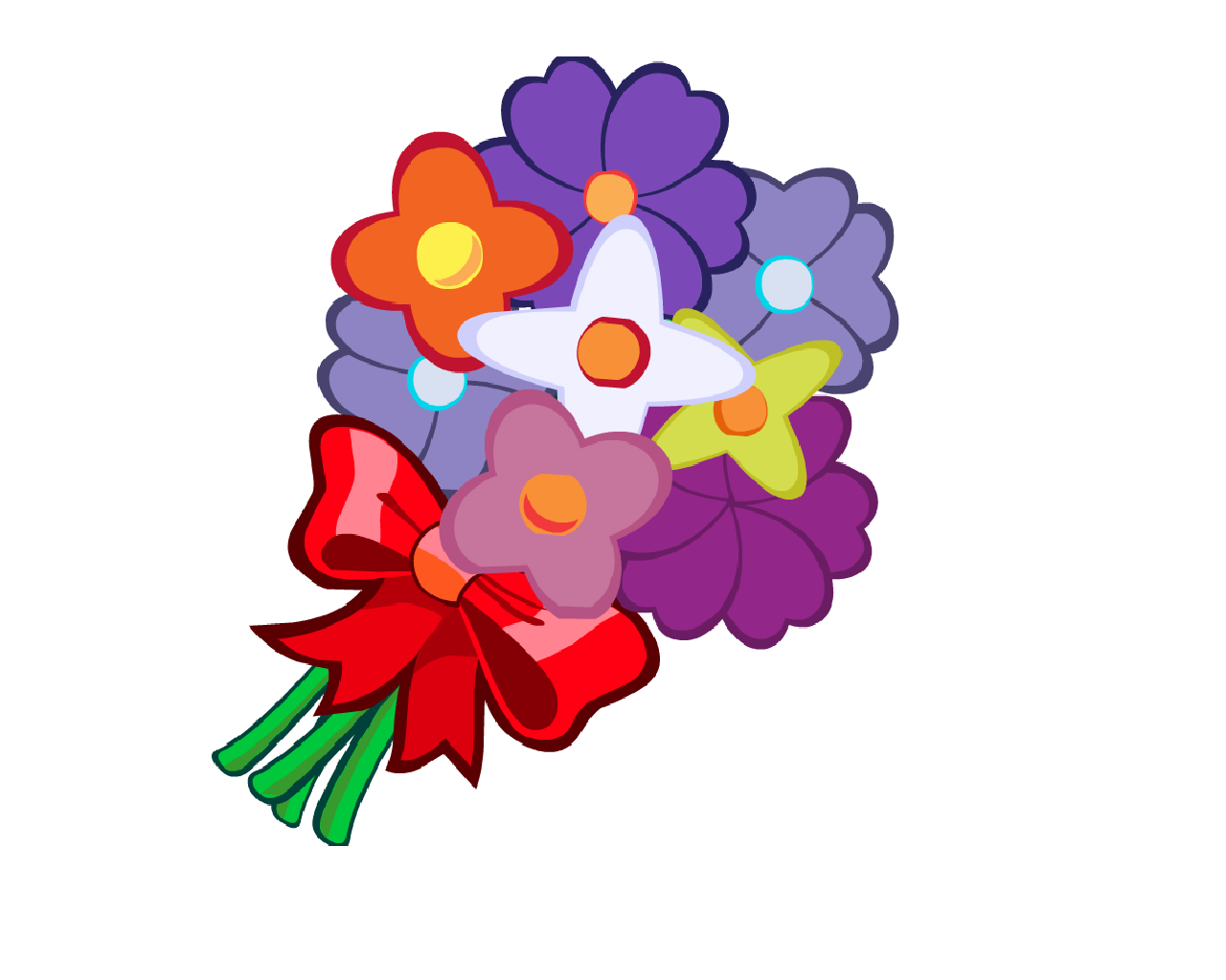 Bunch Of Flowers Cartoon - ClipArt Best clipart transparent library