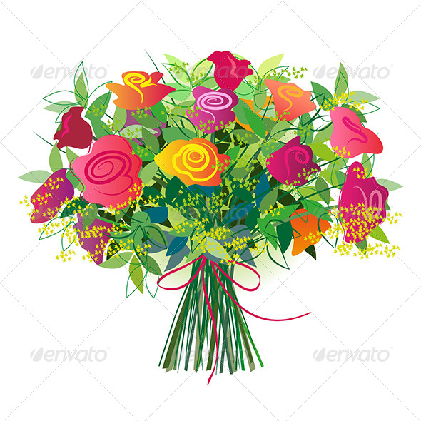 Rose Bouquet Cartoon Clipart - Clipart Kid picture royalty free stock