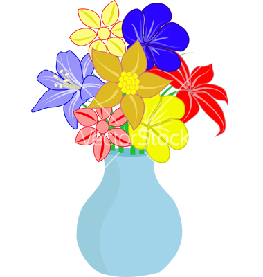 cartoon flowers in vase - The Best Flowers Ideas clip art library