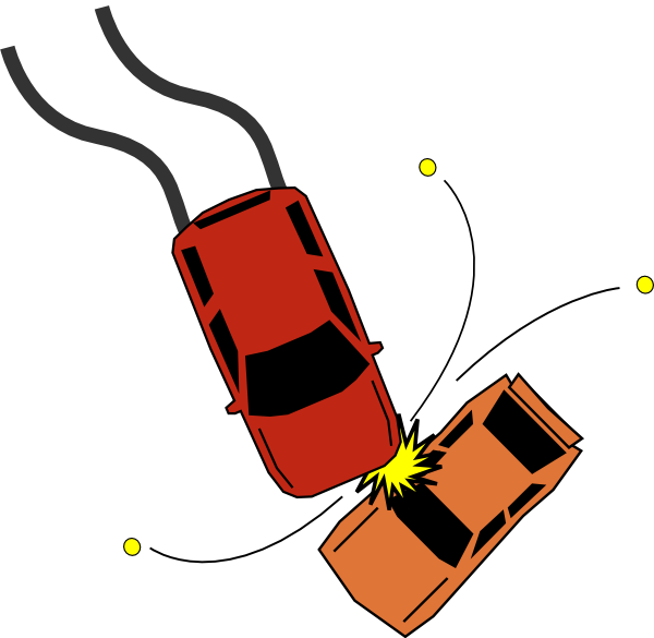Cartoon car accident clipart picture library stock Car Accident Collision Clip Art at Clker.com - vector clip art ... picture library stock