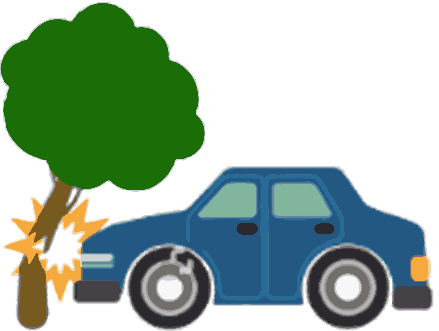 Cartoon car wreck clipart freeuse download Cartoon Traffic collision Accident - Car accident scene 1539*1159 ... freeuse download