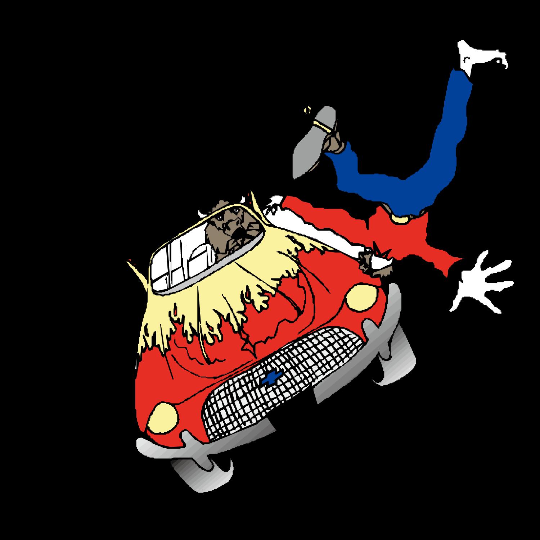 Cartoon car wreck clipart clip royalty free library Cartoon Traffic collision - Car accident scene 1500*1501 transprent ... clip royalty free library