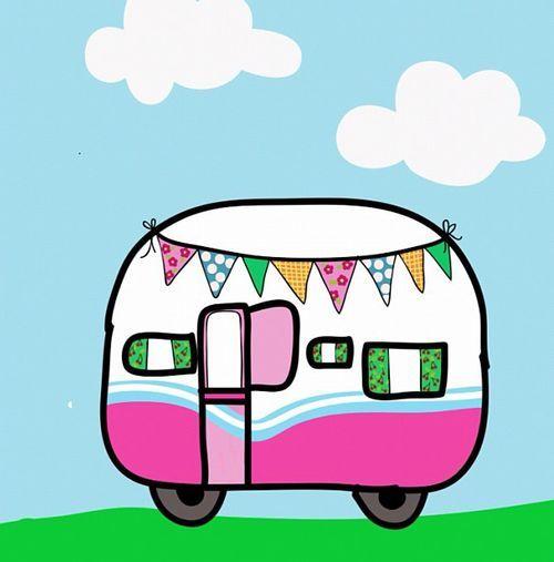 Cute cartoon caravan | Vintage Trailers | Caravan, Caravan pictures ... image free
