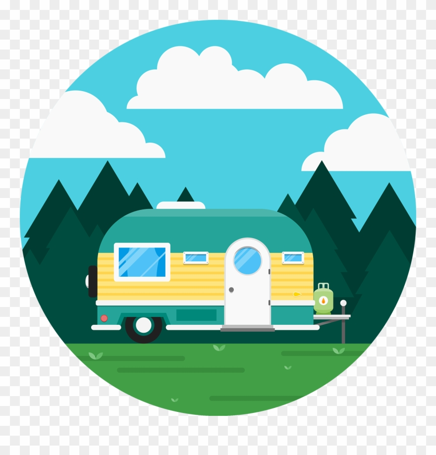 Cartoon caravan clipart picture Caravan Recreational Vehicle Icon - Cute Rv Cartoon Clipart ... picture