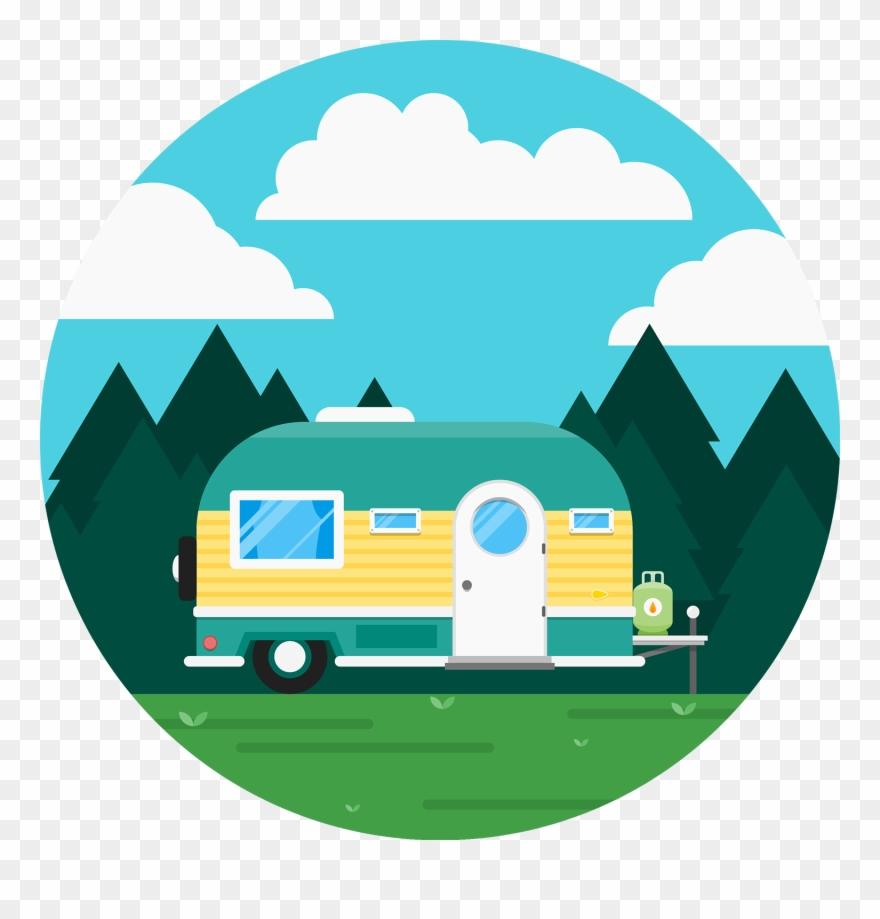 Caravan Recreational Vehicle Icon - Cute Rv Cartoon Clipart ... picture