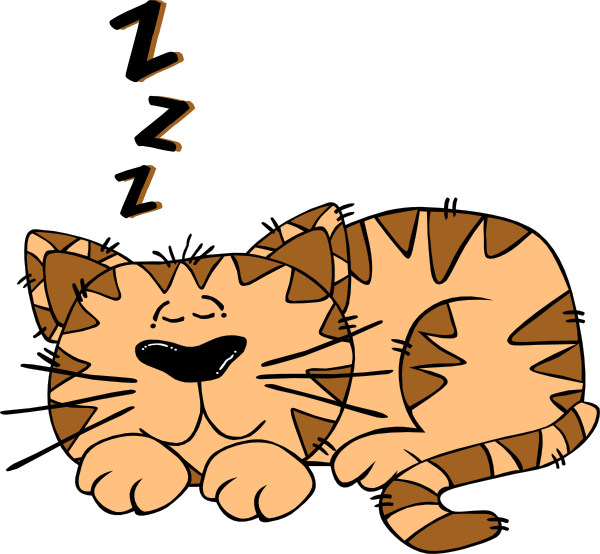 Sleeping at school clipart svg free stock Cartoon Cat Sleeping Clip Art at Clker.com - vector clip art online ... svg free stock