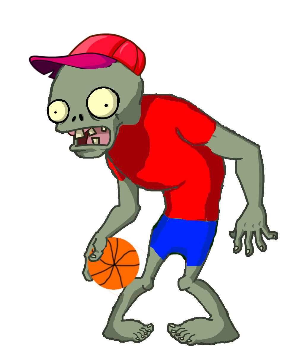 Cartoon character with basketball clipart svg transparent library Zomburbia Basketball Zombie | Plants vs. Zombies Character Creator ... svg transparent library