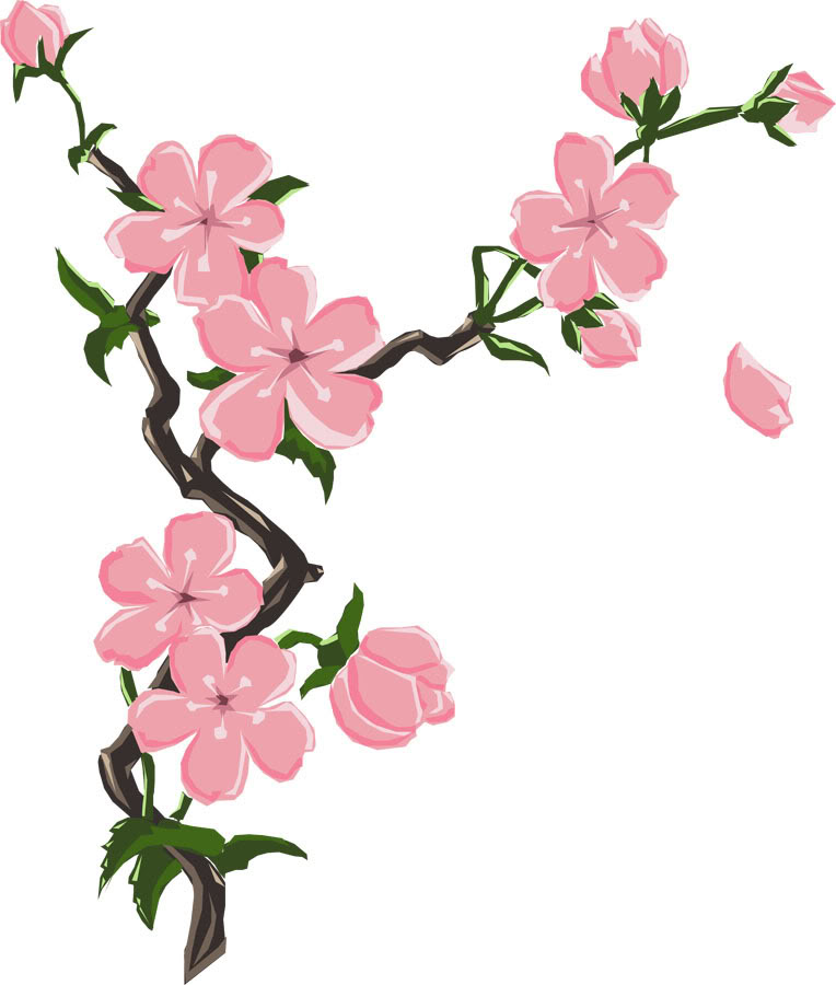 Cartoon cherry blossom clipart black and white download Free Cartoon Cherry Blossom, Download Free Clip Art, Free Clip Art ... black and white download