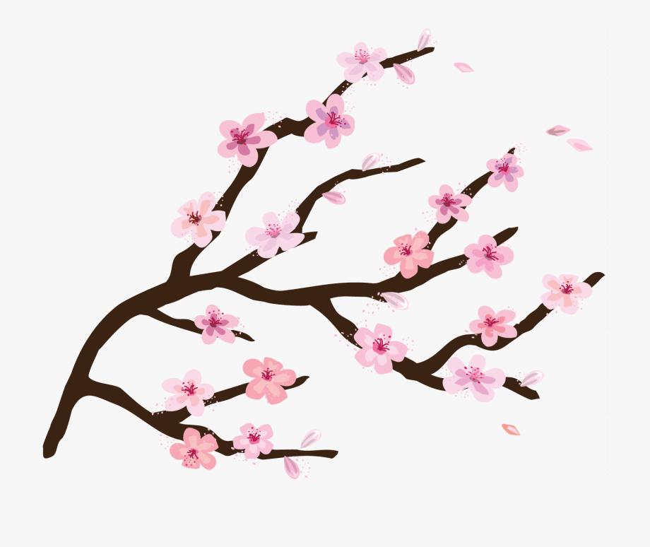 Cartoon cherry blossom clipart image royalty free Cherry Tree Clipart Cartoon - Transparent Background Cherry Blossom ... image royalty free