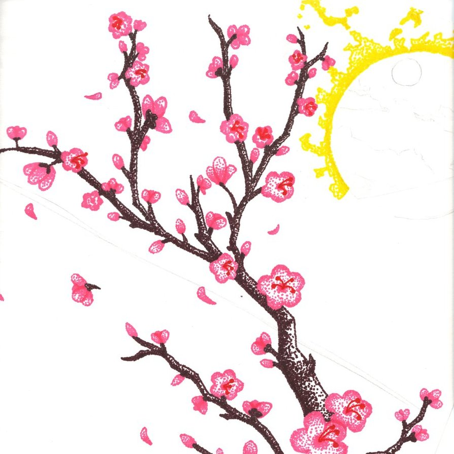 Cartoon cherry blossom clipart clipart freeuse Free Cartoon Cherry Blossom, Download Free Clip Art, Free Clip Art ... clipart freeuse