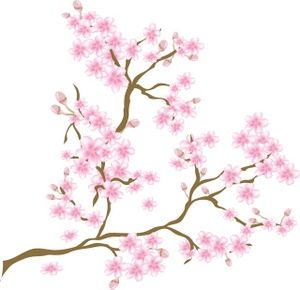 Cartoon cherry blossom clipart clip Cartoon Flowers Clip Art | clip art illustration of a cherry blossom ... clip