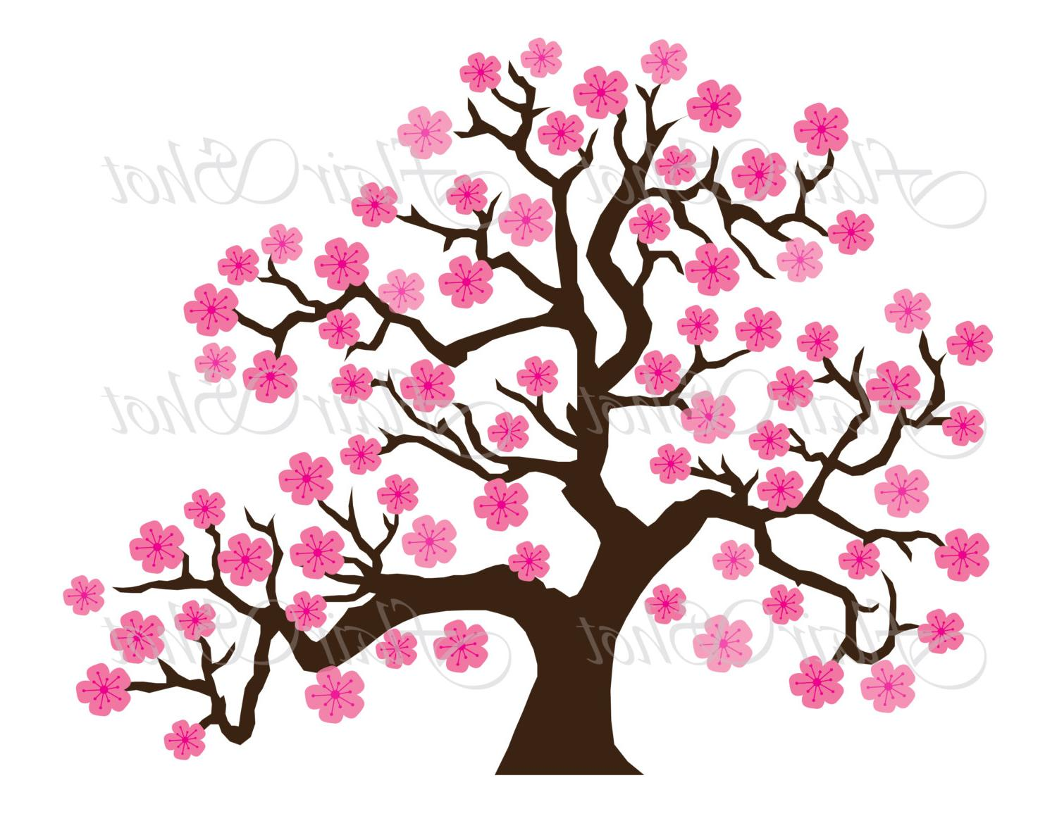 Cartoon cherry blossom clipart jpg free Cartoon Cherry Blossom Tree Clipart | Free download best Cartoon ... jpg free
