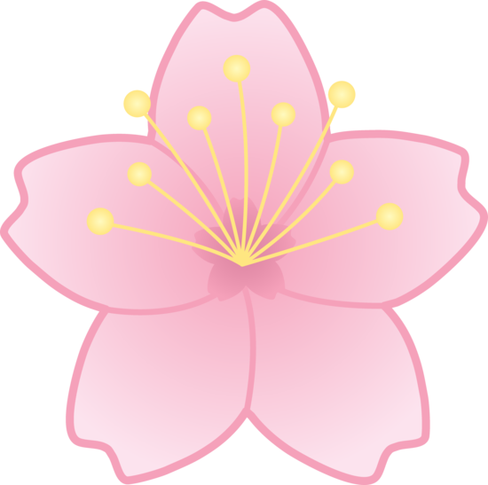 Cartoon cherry blossom clipart clipart freeuse library Free Cartoon Cherry Blossom, Download Free Clip Art, Free Clip Art ... clipart freeuse library