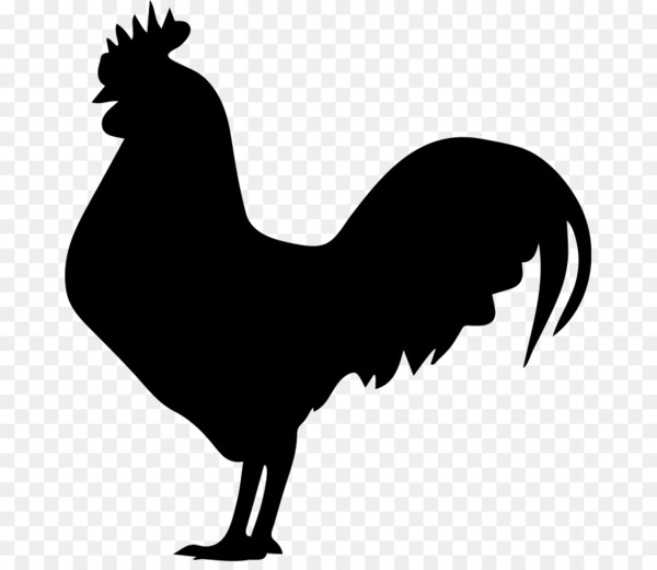 Cartoon chickens silhouette clipart banner black and white library Rooster Chicken Silhouette Clip art - rooster - Nohat banner black and white library