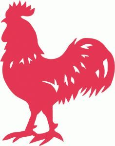 Cartoon chickens silhouette clipart picture freeuse library Male Chicken Clipart Image: Black and white cartoon silhouette of ... picture freeuse library