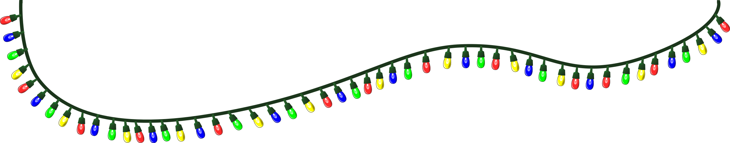 Christmas lights clipart transparent background picture free stock Free Christmas Lights Clipart Pictures - Clipartix picture free stock