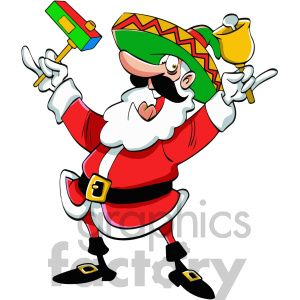 Cartoon christmas pictures clipart vector black and white library mexican santa claus cartoon clipart. Royalty-free clipart # 400443 ... vector black and white library