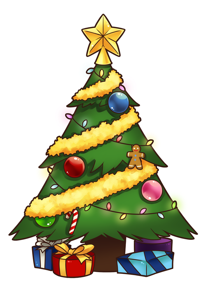 Cartoon christmas tree clipart transparent 28+ Collection of Free Xmas Clipart Tree | High quality, free ... transparent