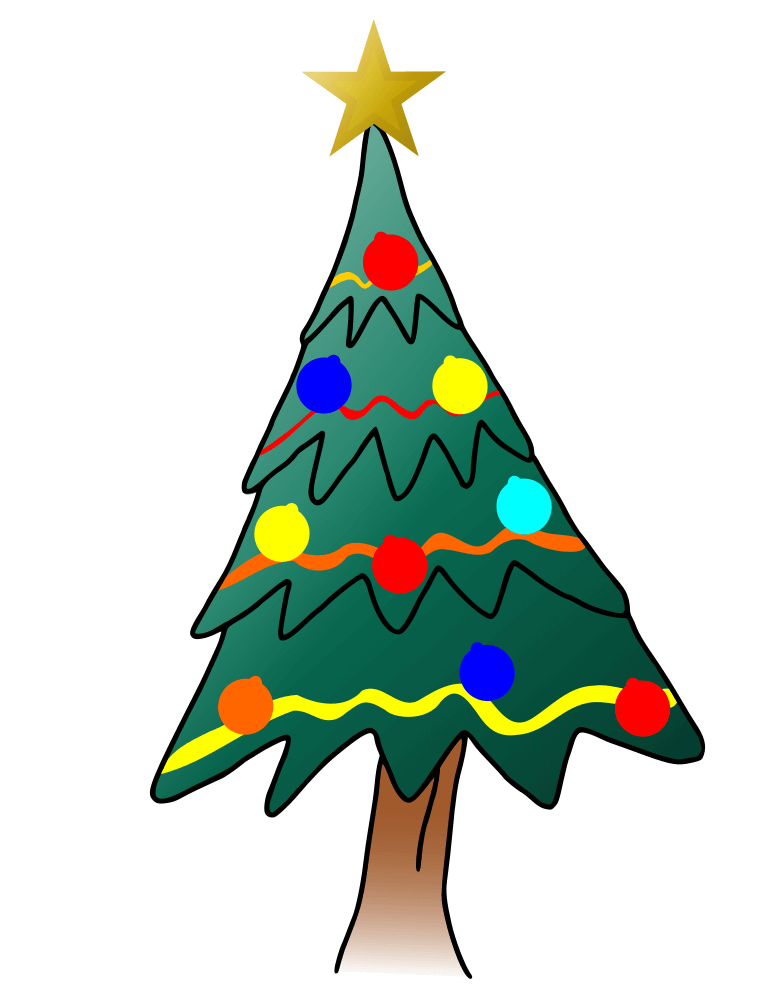 Cartoon christmas tree clipart freeuse Xmas Tree Cartoon Christmas Tree - Rooweb Clipart freeuse