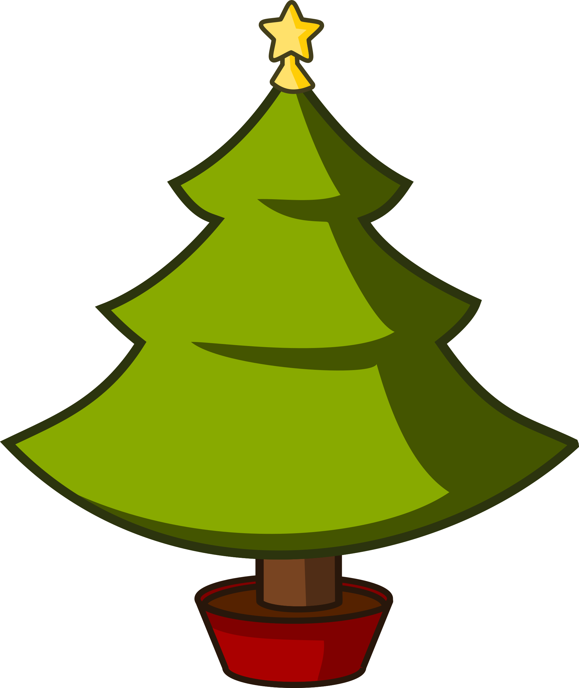 Cartoon christmas tree clipart freeuse Clipart - Cartoon Xmas Tree freeuse