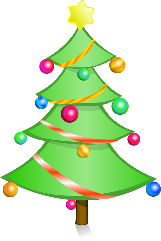 Cartoon christmas tree clipart picture transparent Christmas Tree Clipart - Free Holiday Graphics picture transparent
