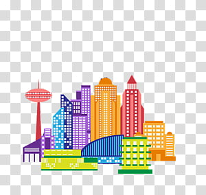 Silhouette City Drawing, Cartoon city silhouette transparent ... vector royalty free stock