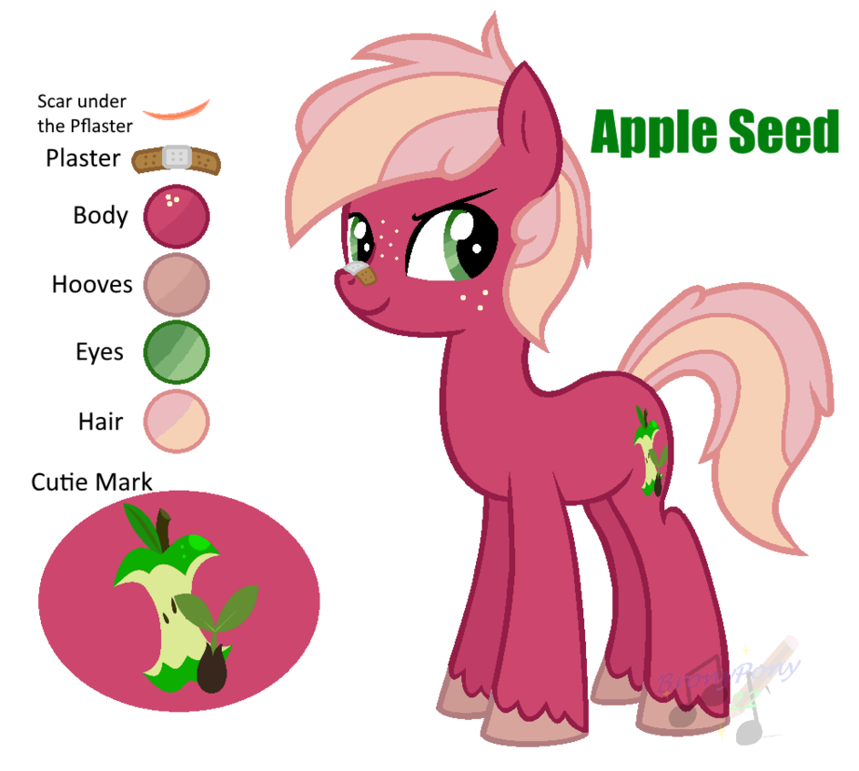 Cartoon clipart apple seeds banner library MLP Apple Seed REF [Next Gen] by ShootingStarYT on DeviantArt banner library