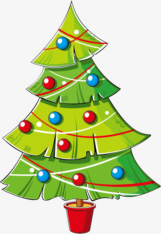 Cartoon clipart christmas tree image library Cartoon Christmas Tree Png, png collections at sccpre.cat image library