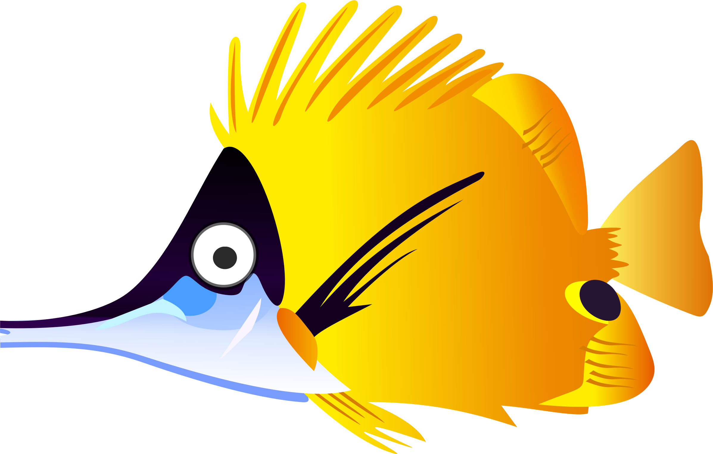 Cartoon clipart fish picture royalty free stock Clipart - Yellow cartoon fish picture royalty free stock