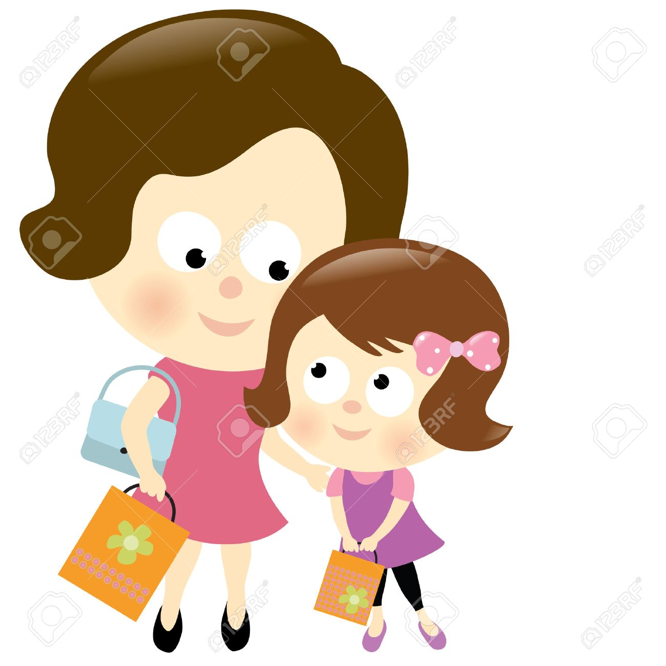 Cartoon clipart mother and daughter at halloween picture download Collection of 14 free Mother clipart mom daughter shopping aztec ... picture download
