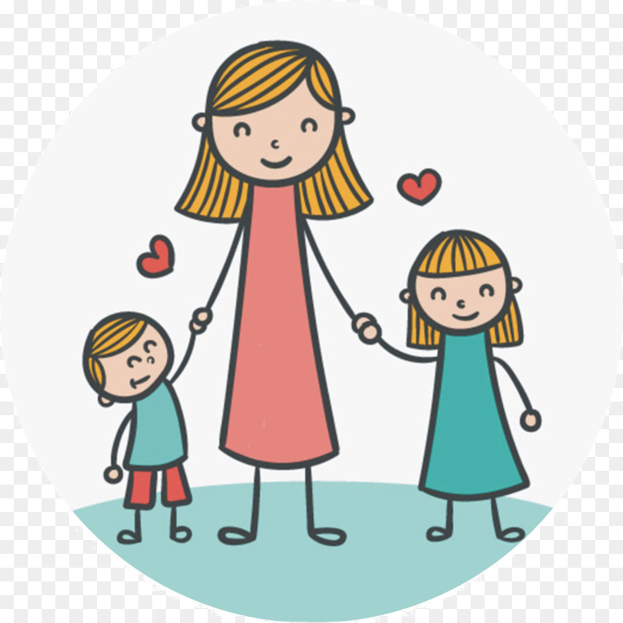 Cartoon clipart mother and daughter at halloween png library stock Friendship Day Happy People png library stock