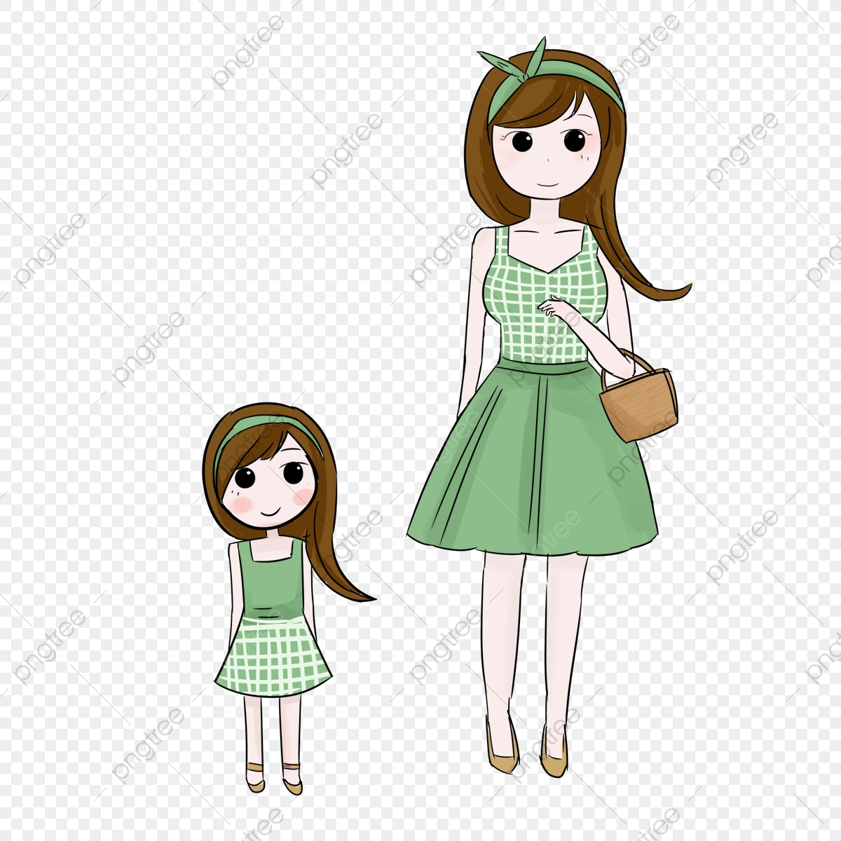 Cartoon Mother And Daughter, Cartoon Clipart, Mother And Daughter ... royalty free library
