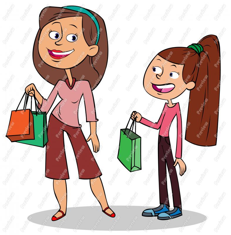 Cartoon clipart mother and daughter shoppi ng image library stock Mother Cartoon Clipart | Free download best Mother Cartoon Clipart ... image library stock