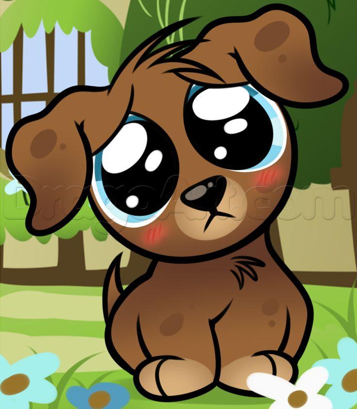 Cartoon clipart of big dog eyes. Puppy clipartfest efdbacf