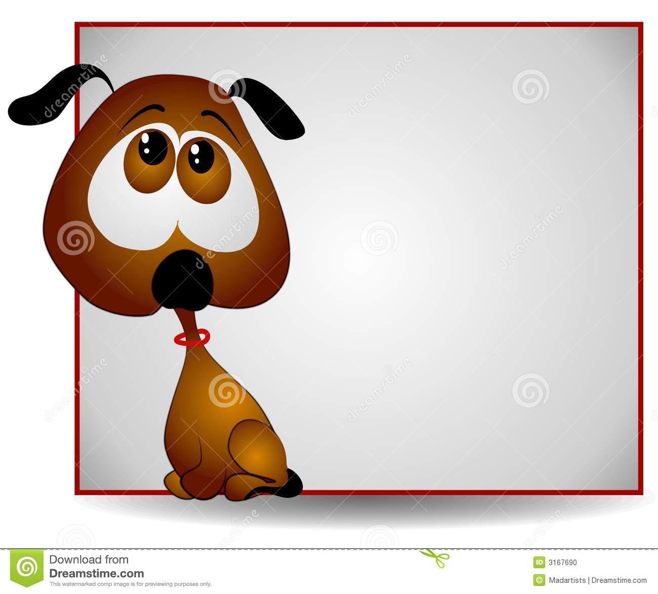 Cartoon clipart of big dog eyes png transparent Sad Big Eyed Puppy Banner Stock Photo - Image: 3167690 png transparent