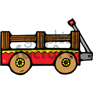 Cartoon clipart of mini pullers clip free stock wagon clipart - Royalty-Free Images | Graphics Factory clip free stock