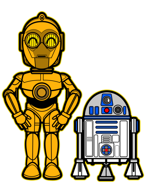 Star wars cartoon characters clipart picture free stock Star Wars: C3PO & R2D2 | My Munchkins, My Nephews | Pinterest | Star ... picture free stock