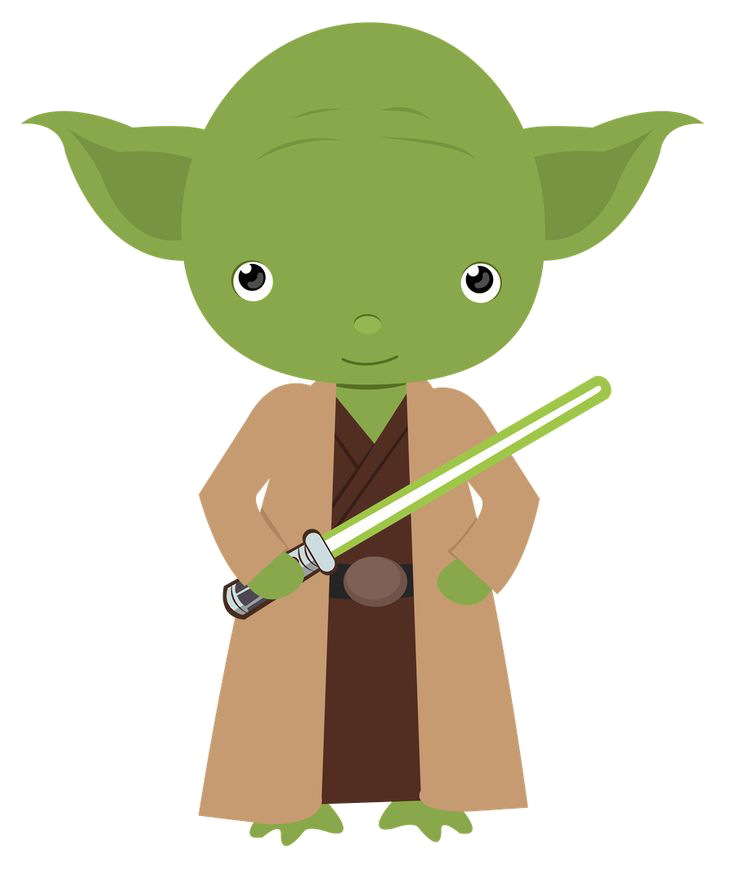 Star wars character clipart picture black and white download Yoda Star Wars Clipart picture black and white download