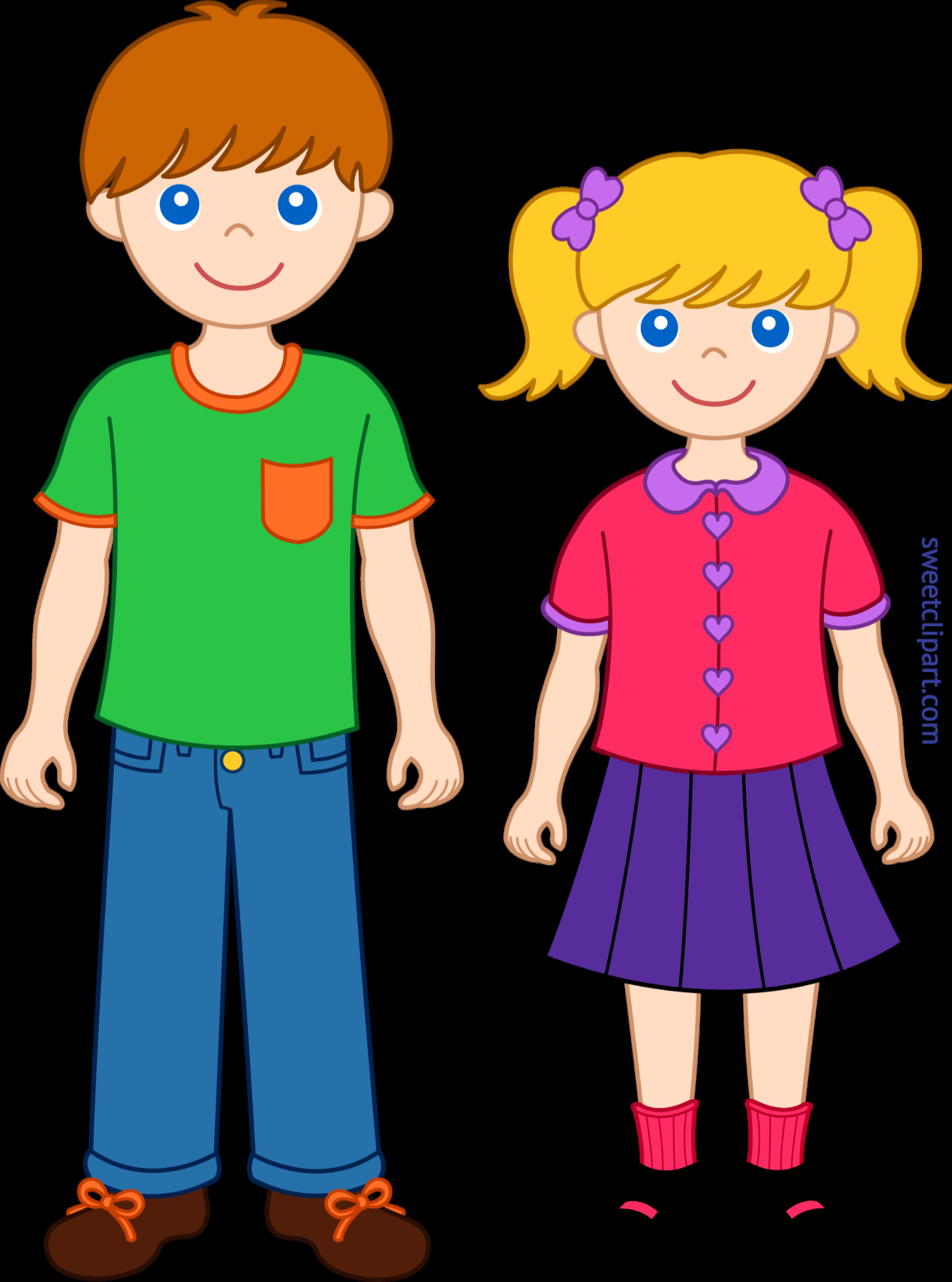 Cartoon clipart siblings clip royalty free download Siblings 1 Clip Art - Sweet Clip Art clip royalty free download