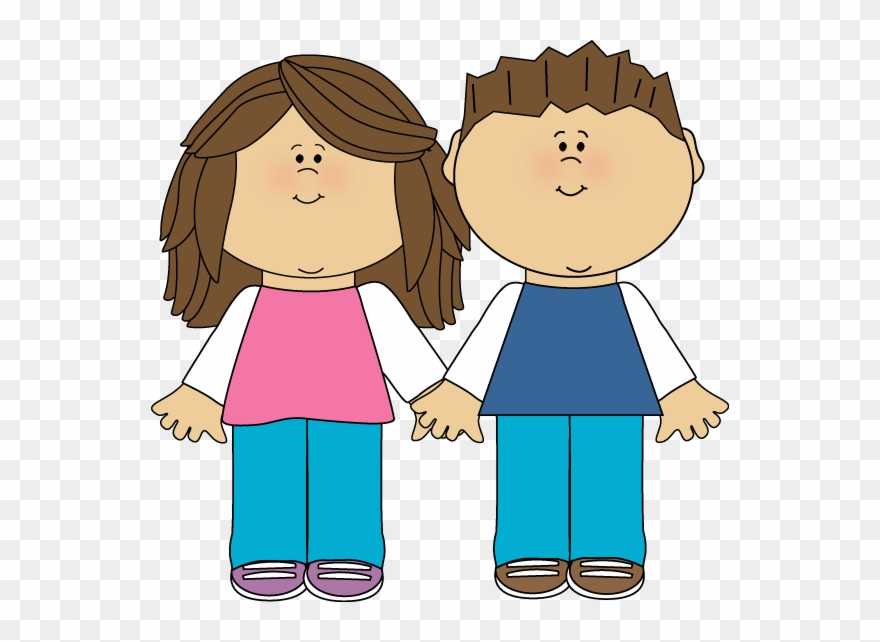 Cartoon clipart siblings vector black and white download Brother And Sister - Clipart Brother And Sister - Png Download ... vector black and white download