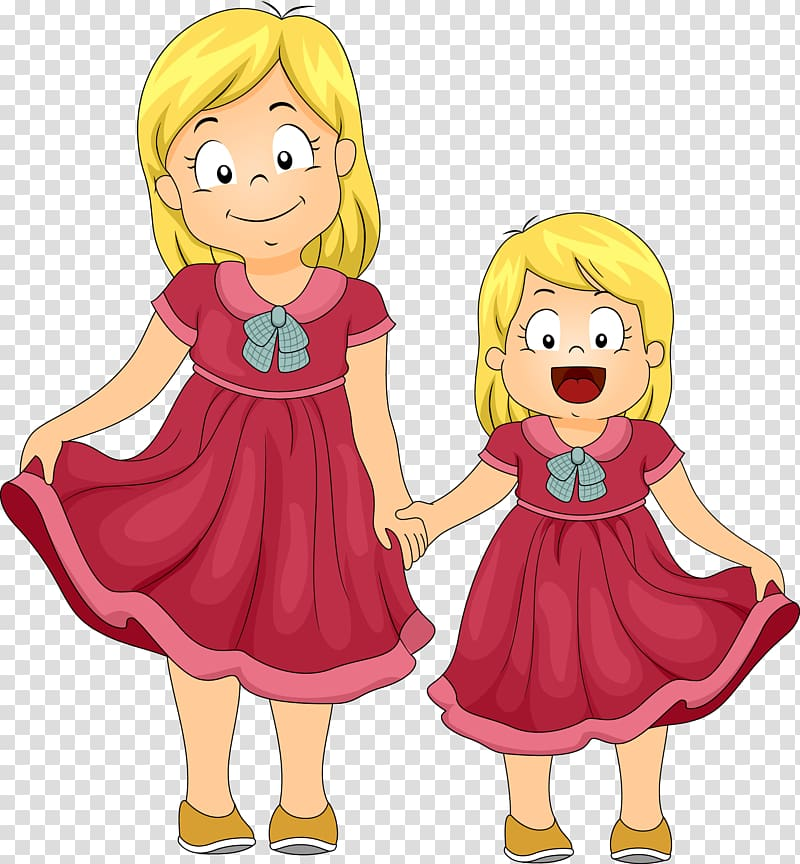 Cartoon clipart siblings image library library Sister , others transparent background PNG clipart | HiClipart image library library
