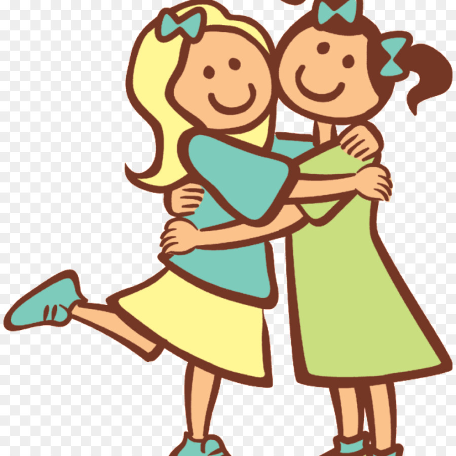 Cartoon clipart siblings clip download Hug Cartoon clipart - Sister, Graphics, Illustration, transparent ... clip download