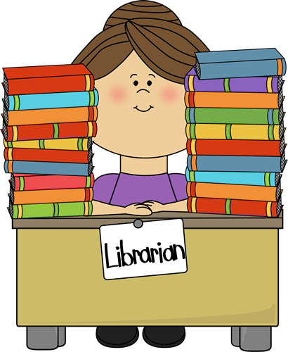 Children s library clipart jpg black and white stock library clip art free | Clip Art Image - librarian sitting at a desk ... jpg black and white stock