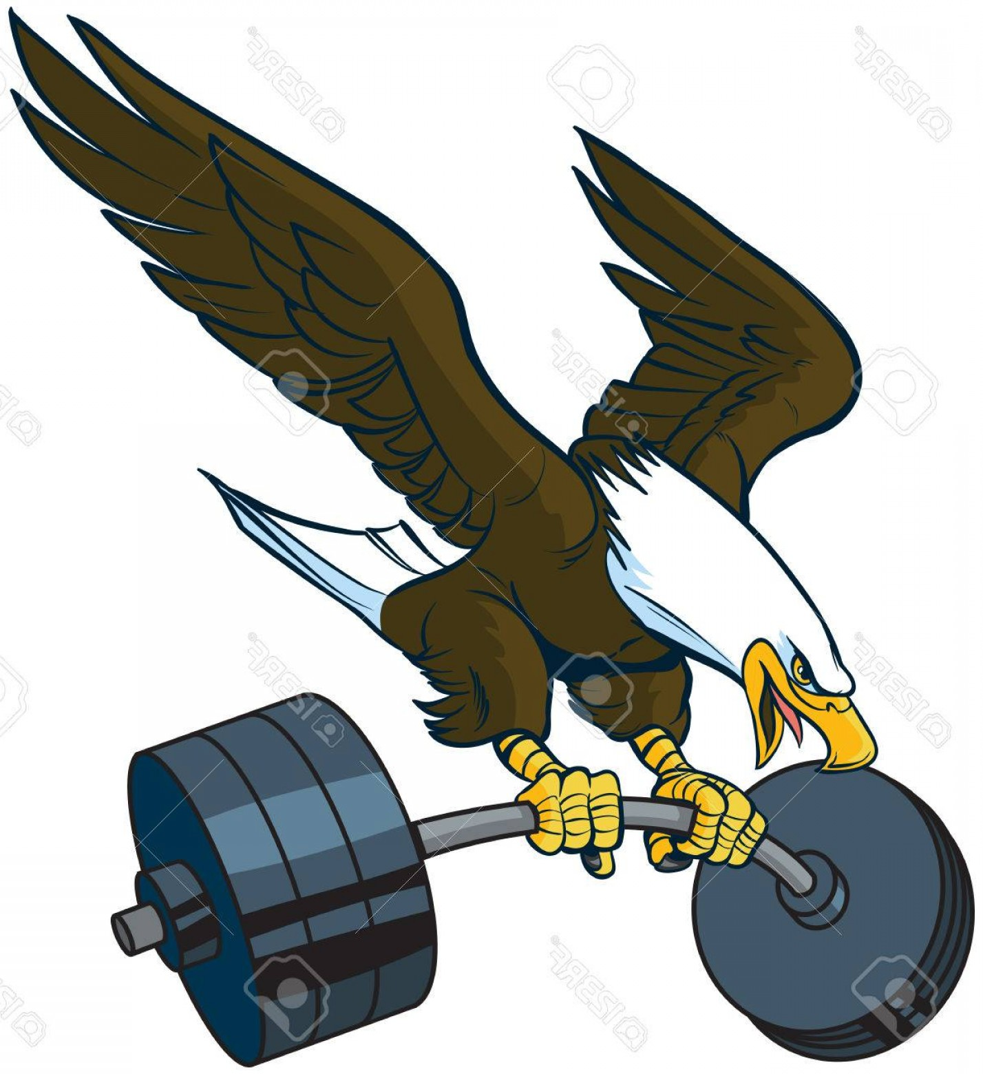 Cartoon clipart swoop clip Eagle Mascot Vector Clip Art | CQRecords clip