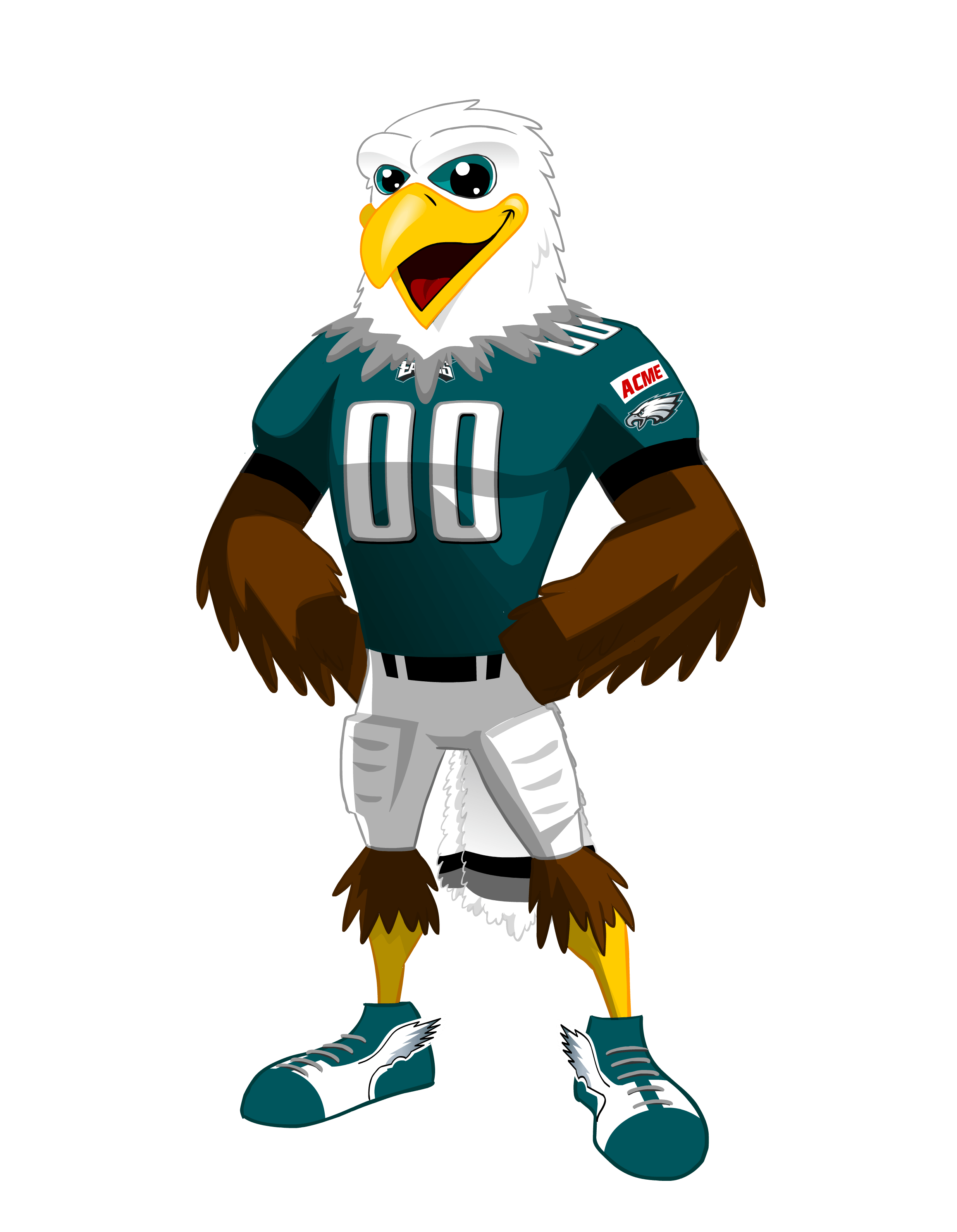 Cartoon clipart swoop free stock Philadelphia Eagles Swoop free stock