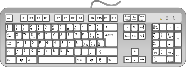 Cartoon computer keyboard clipart image black and white download Computer keyboard clipart vector - ClipartFest image black and white download